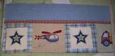 Kidsline Blue/Green Helicopter/Plane/Fire Truck Nursery/Baby Window Valance EUC