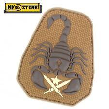 Patch in PVC US ARMY Scorpion Unit 10 x 8 cm Tan Militare Softair con Velcrogrip