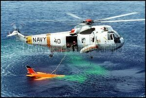 USN Sikorsky H-3 Sea King Helicopter VC-5 Poro Point 1981 8x12 Photo