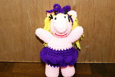HAND MADE CROCHET BALLERINA PIG CHRISTMAS ORNAMENT OR BABY'S TOY