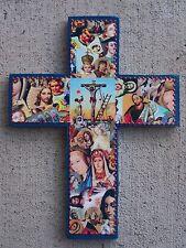 Cross - Large Saints Montage - Blue
