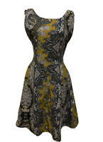 TREE OF LIFE Carpe Diem Paisley Floral Cotton Dress. Size M. EUC