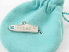 Tiffany & Co Silver Rodeo Drive Street Sign Charm Pendant 4 Necklace / Bracelet!