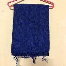 Sky Blue Yak Wool Shawl Scarf Wrap Tibetan Nepalese Handmade Nepal YS05
