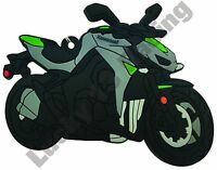 Kawasaki Z1000 rubber key ring motor bike cycle gift keyring chain