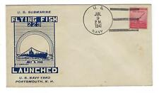 VEGAS - 1941 Submarine Flying-Fish Launch, Portsmouth, NH - DZ161