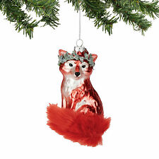 4054366 Red Fox Animal Furry Tail  Dept 56 Holiday Ornament Animal Winter