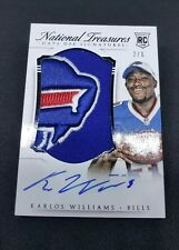2015 National Treasures Karlos Williams Rookie Hats Off flawless auto Bills 2/6