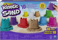Kinetic Sand, Castle Containers 10-Color Pack for Kids Aged 3 and Up,