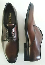 PRADA men's shoes classic brown lace-up authentic PRADA leather 10UK/ US11