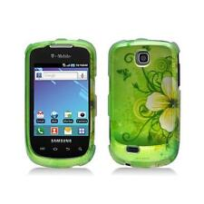 Green with Flower and Butterfly Snap-On Hard Case Cover for Samsung Dart T499