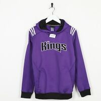 Vintage Kids ADIDAS Kings Hoodie Sweatshirt Purple | Large 14-16
