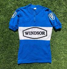 Rare VTG Blue/White Torralba Windsor Acrylic ½ Zip Short Sleeve Cycling Jersey M