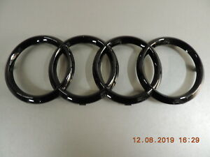 Original Audi A4 A6 A7 A8 Q3 Q5 Q7 Emblem Ringe Zeichen im Kühlergrill schwarz