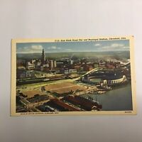East Ninth Street Pier Municipal Stadium Cleveland Ohio Unposted Postcard