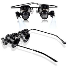 20x Magnifier Magnifying Double Eye Glasses Loupe Lens Jeweler Watch Repair exp