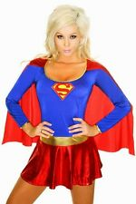 Sexy Women's Super Hero Fancy Dress Costume Outfit Great for Parties