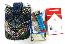 Women's Beaded IPhone 5 Cigarette Case Pouch Magnetic Closure Fit 100's, Kings