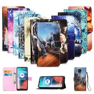 Case for Motorola Moto G8 Power Lite E7 E6s 2020 Leather Flip Wallet Phone Cover
