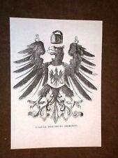 Aquila Stemma dell'Impero Germanico Germania