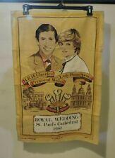 Royal Wedding Charles and Diana and Royal Regalia Tea Towels