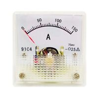1PC Class 2.5 Analog Panel AMP Current Meter DC 0~150A Ammeter Model 91C4 45*45