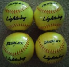 LOT OF 4 BRAND NEW DUDLEX LIGHTNING 12 IN  SOFTBALLS - FREE SHIPPING