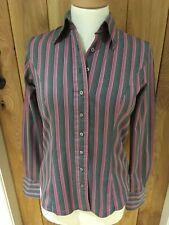 T M Lewin Pink Multi Coloured Striped Long Sleeve Shirt. 8. Excellent!