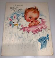 Vintage 1950's Greetings Inc Baby First Easter Card