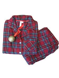red tartan plaid pyjamas, gift for her, wife gift, girlfriend gift, mum gift,