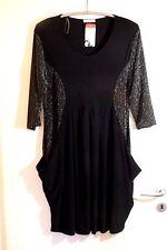 MAGNA Ballon TUNIKA Kleid 44 46 NEU schwarz silber Lurex Stretch EDEL LAGENLOOK