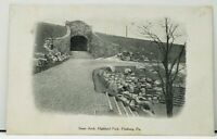 Pittsburgh Pa. Stone Arch Highland Park Pittsburg Press Series udb Postcard H14