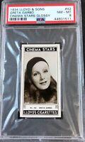 1934 Lloyd & Sons Cinema Stars Glossy #42 Greta Garbo PSA 8 NM-MT (B)