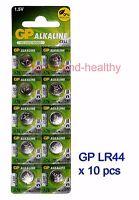 New GP LR44 (A76) Alkaline Batteries x10 pcs FREE Post world-wide