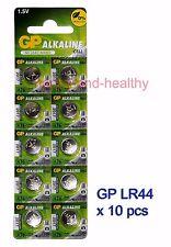 New GP LR44 (A76) Alkaline Batteries x10 pcs FREE Post world-wide 2020