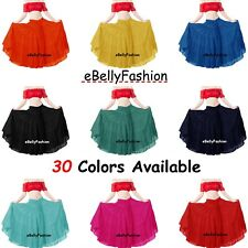 Women Skirt 5 Tiered 25 Yard Cotton Belly Dance Gypsy Tribal Jupe 30 colour