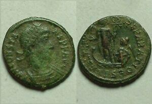 Constans Galey standard Chi-rho Phoenix Rare genuine ancient Roman coin 348