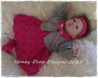 Honeydropdesigns Jazz Part II * PAPER KNITTING PATTERN * For Reborn/Baby