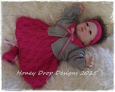 Honeydropdesigns Jazz Part II * PAPER KNITTING PATTERN * For Reborn/Baby