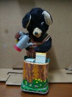 1960s Coffee Time BEAR Battery-operated Tin Toy