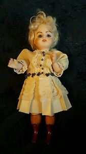 MINIATURE BISQUE PORCELAIN JOINTED DOLL HOUSE RISQUE BURLESQUE VICTORIAN PAINTED