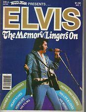 ELVIS PRESLEY Dell Teen Talk The Memory Lingers On Magazine 1979 LIFE & LOVES
