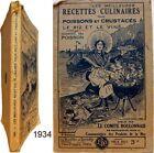 Recettes culinaires poisson crustacés 1934 Comité Boulonnais gastronomie cuisine