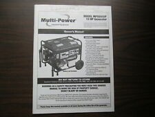 MultiPower 6,000-Watt Mean Green Dual Fuel MP5500 (Gas/LPG) Generator MANUAL
