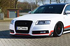 Spoilerschwert Frontspoiler Cuplippe aus ABS Audi A6 4F C6 Facelift mit ABE
