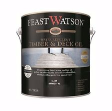 Feast Watson Timber & Deck Oil Exterior Water Repellent Cladding Fences Gate 4l