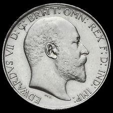 1904 Edward VII Silver Florin, Rare, GVF / AEF