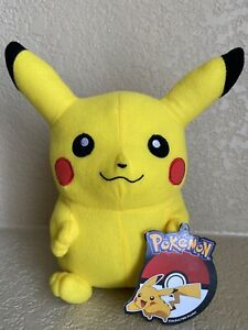 """Official Licensed Pokemon Pikachu Plush Stuffed Toy Kids Large 9"""" Authentic New"""