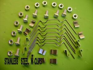 GREENHOUSE STAINLESS  REPAIR KITS FROM 20- 100 W+ Z CLIPS + SQUARE NUTS AND BOLT
