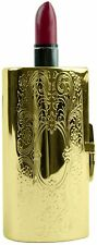Vintage Gold Victorian Scroll Boxed Lipstick Case With Mirror